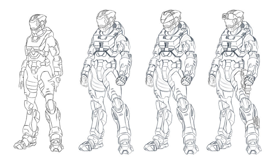 Halo 5 Spartan Coloring Pages Coloring Pages