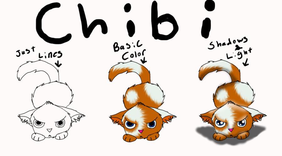 Cute Chibi Cat Drawing Animal Drawing Chibi Cat