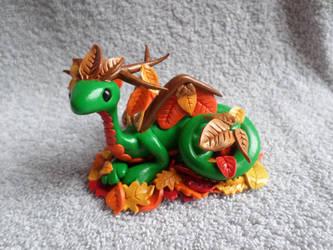 Green Fall Dragon by ShadowKrafts