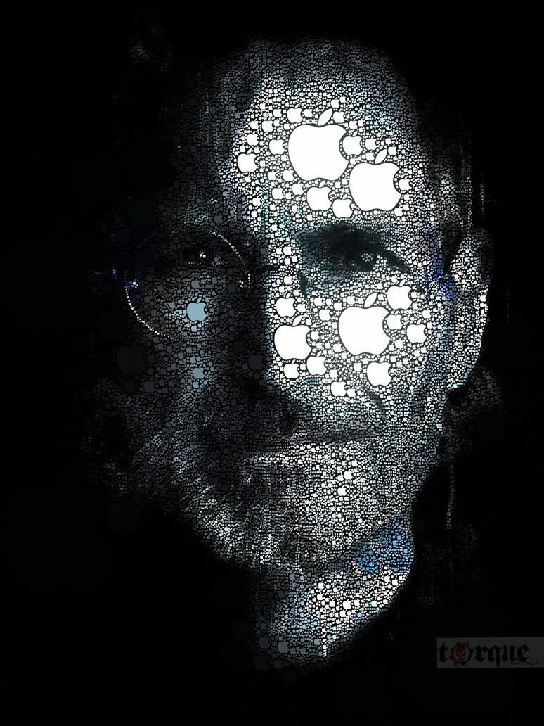 The Steve Jobs Apple Portrait by torqueabhi