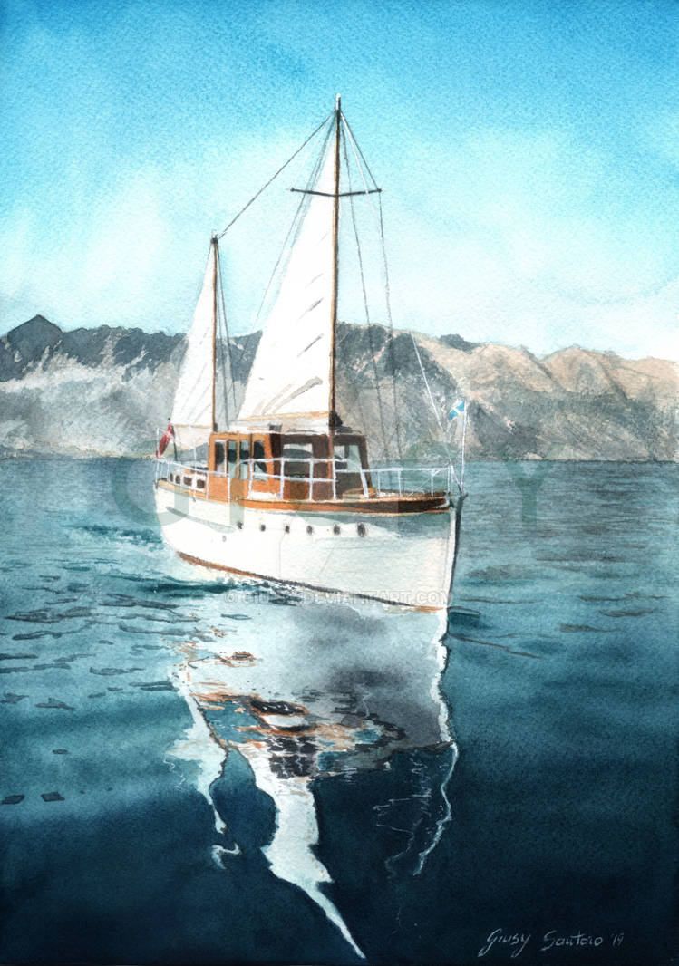 sail boat by Giu-sy