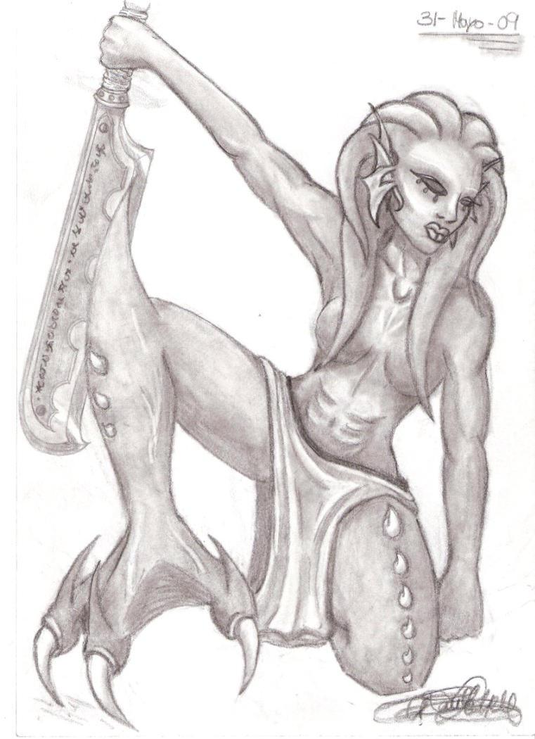 She, the Lizard by Aralay
