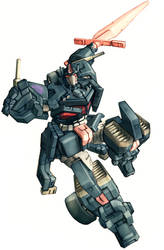 Nemesis Prime in colour by Blitz-Wing