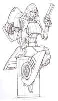 Arcee line art by Blitz-Wing