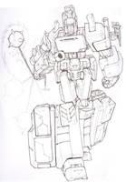 Megatron line art by Blitz-Wing