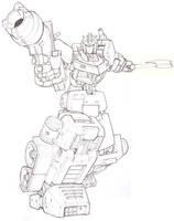 Optimus Prime Line art by Blitz-Wing