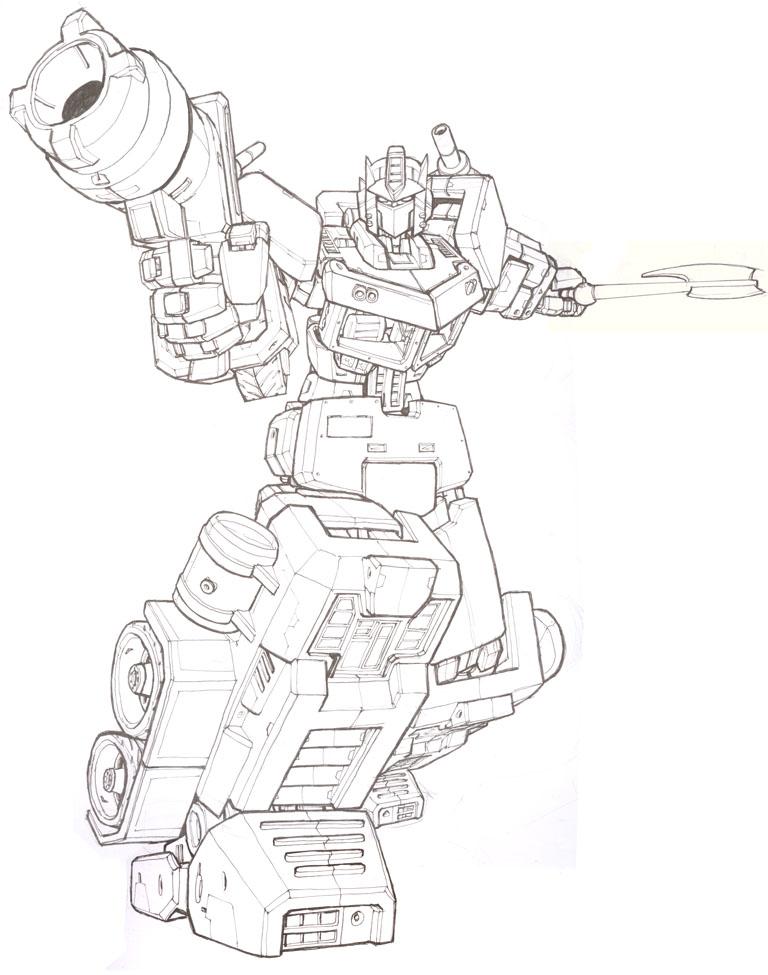 Optimus Prime Line Art By Blitz Wing On Deviantart