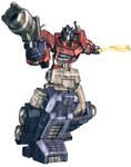Optimus Prime in colour