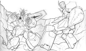 -sketch- GGG VS Gurran Lagann