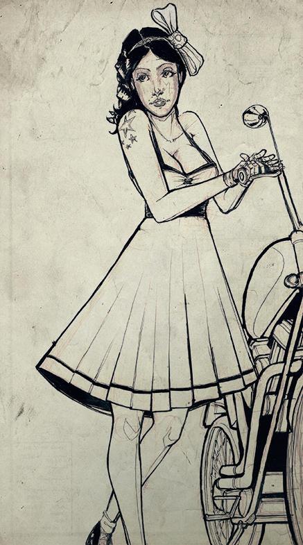 Rockabilly sketch
