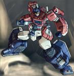 Optimus Prime Stance