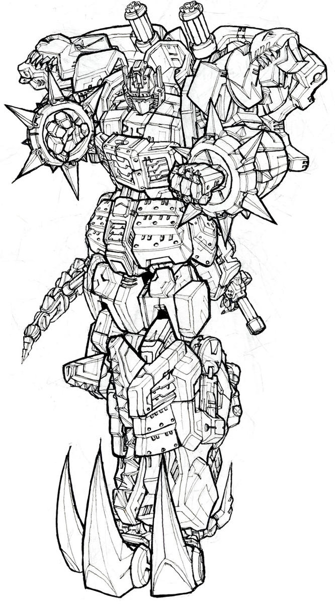 Grimlock by blitz wing on deviantart for Grimlock coloring page