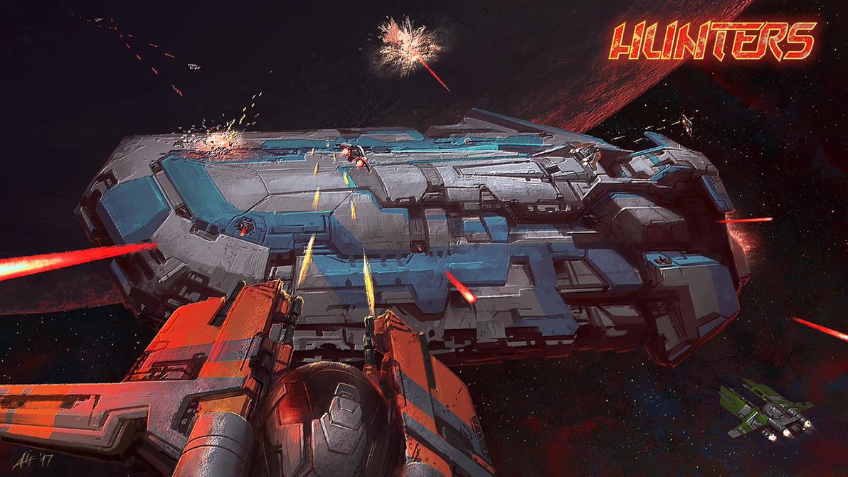 Hunters Space Battle by AlfDsz