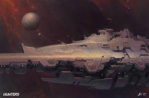Hunters - Destroyer On Patrol by AlfDsz