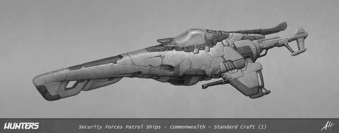 Hunters - Patrol Ship concept illustration