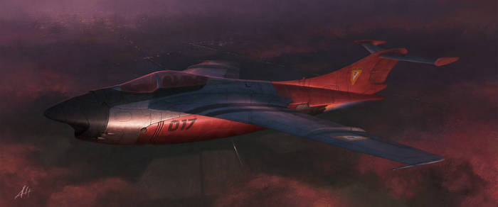 Fantasy 1st Gen Jet Fighter