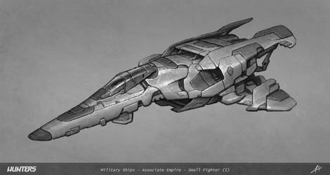 Hunters -Small fighter concept-Gunless prototype
