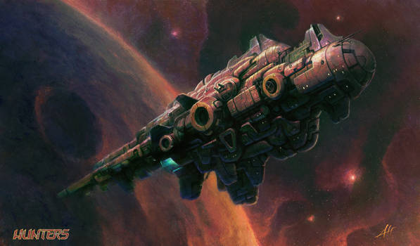 AlfD's Hunters - Pirate Mothership in Orbit