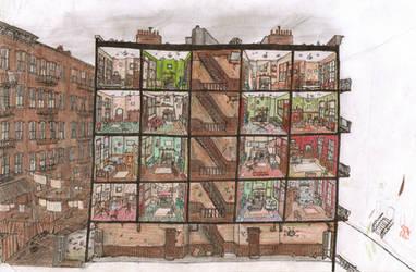 New York Tenements by Hebbybobdige