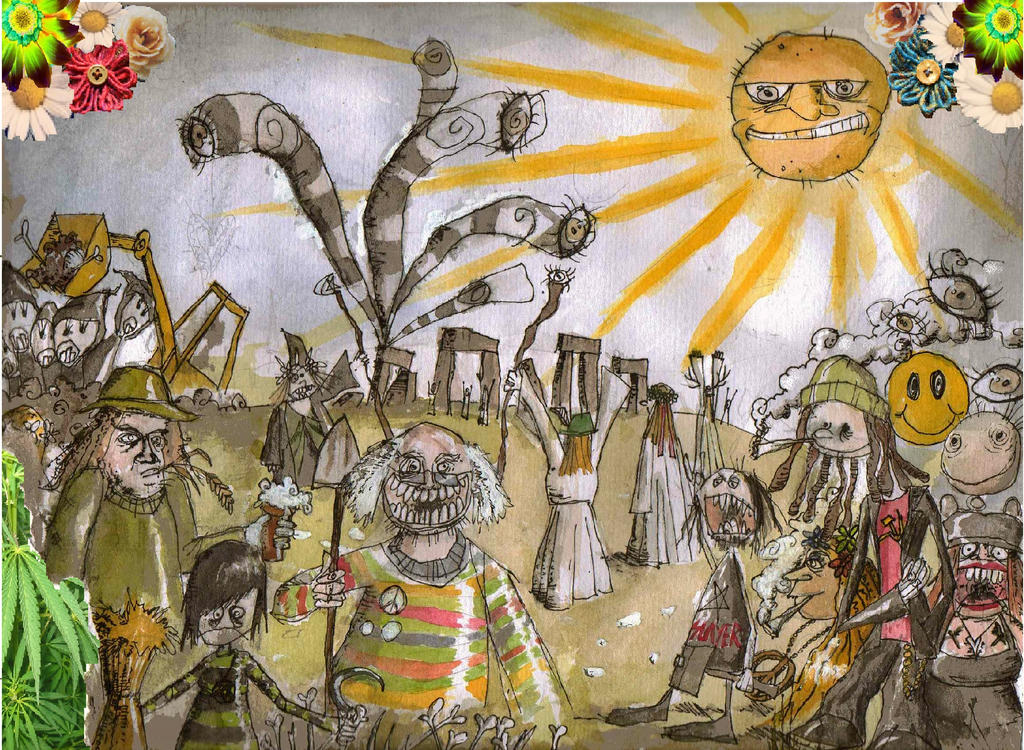 Badgers, Druids and Service Stations by Hebbybobdige