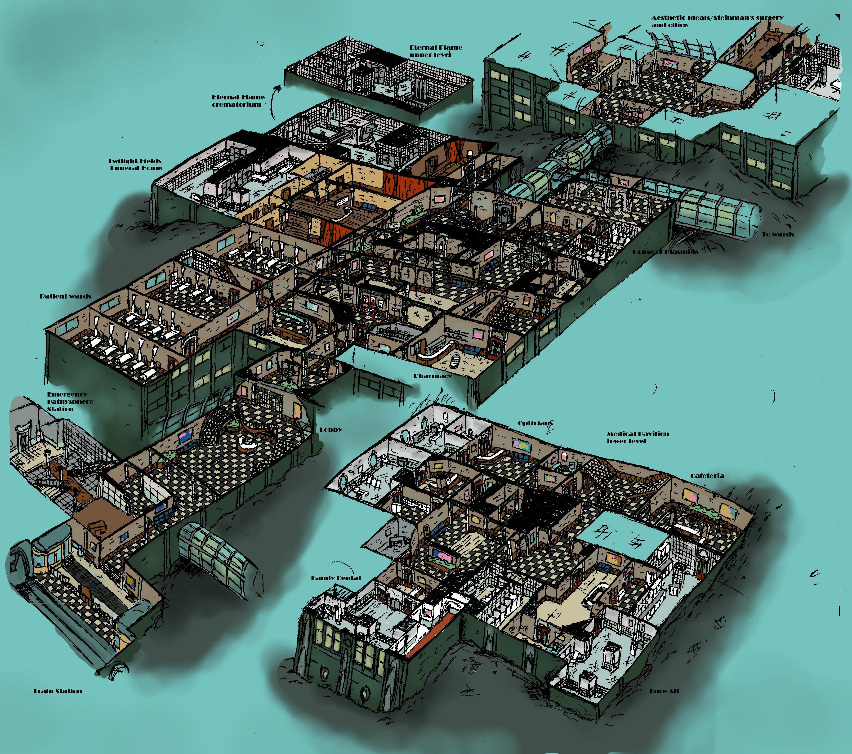 Rapture Medical Pavilion Cutaway Diagram By Hebbybobdige