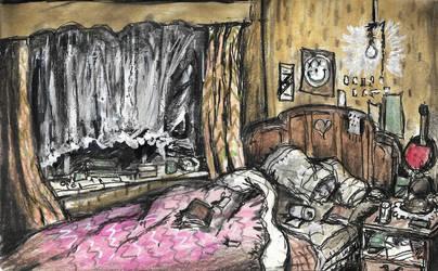 The Bedroom by Hebbybobdige
