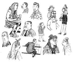 Random Illustration Flash Sheet lll: Humans by Hebbybobdige