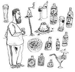 Random Illustration Flash Sheet lV: Down the pub by Hebbybobdige