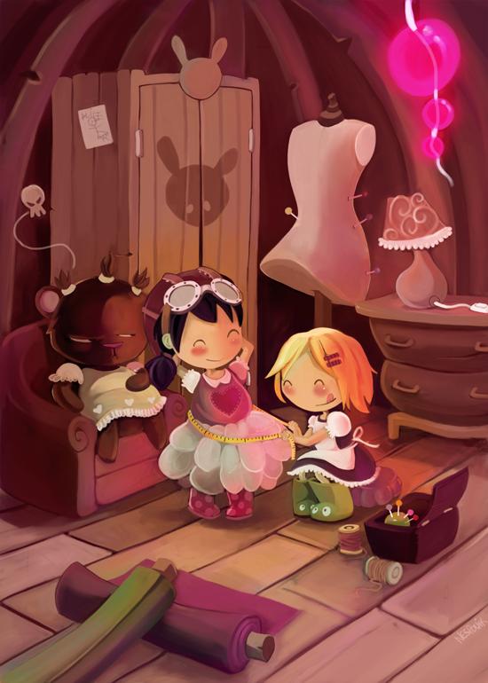 Alice et Bernique by Littlejunko