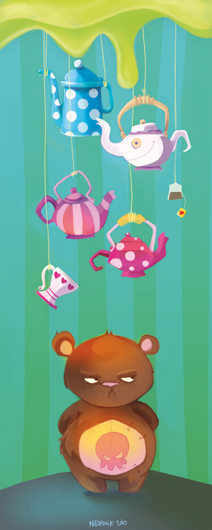 Teddy bookmark by Littlejunko