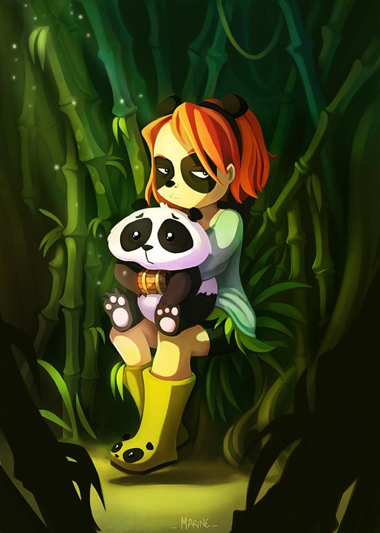 Panda by Littlejunko