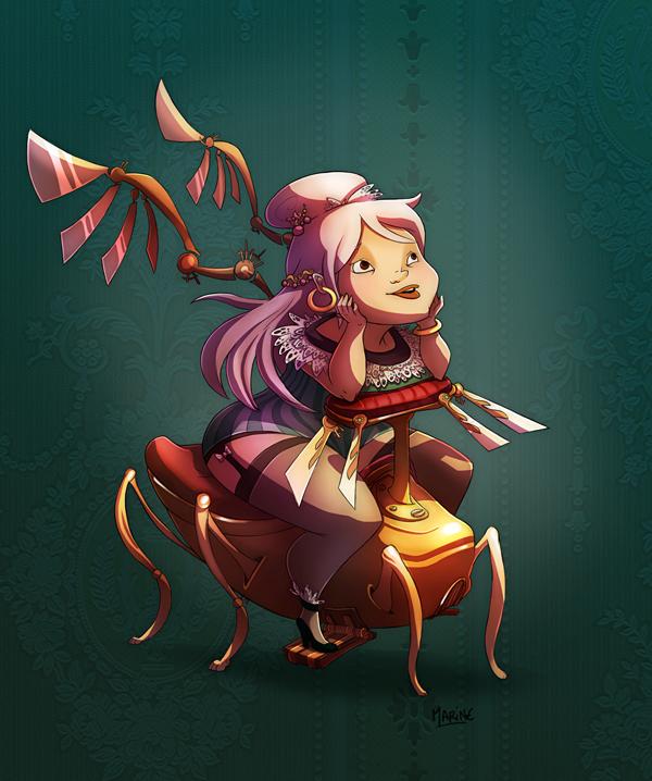 Steampunk Girl by Littlejunko
