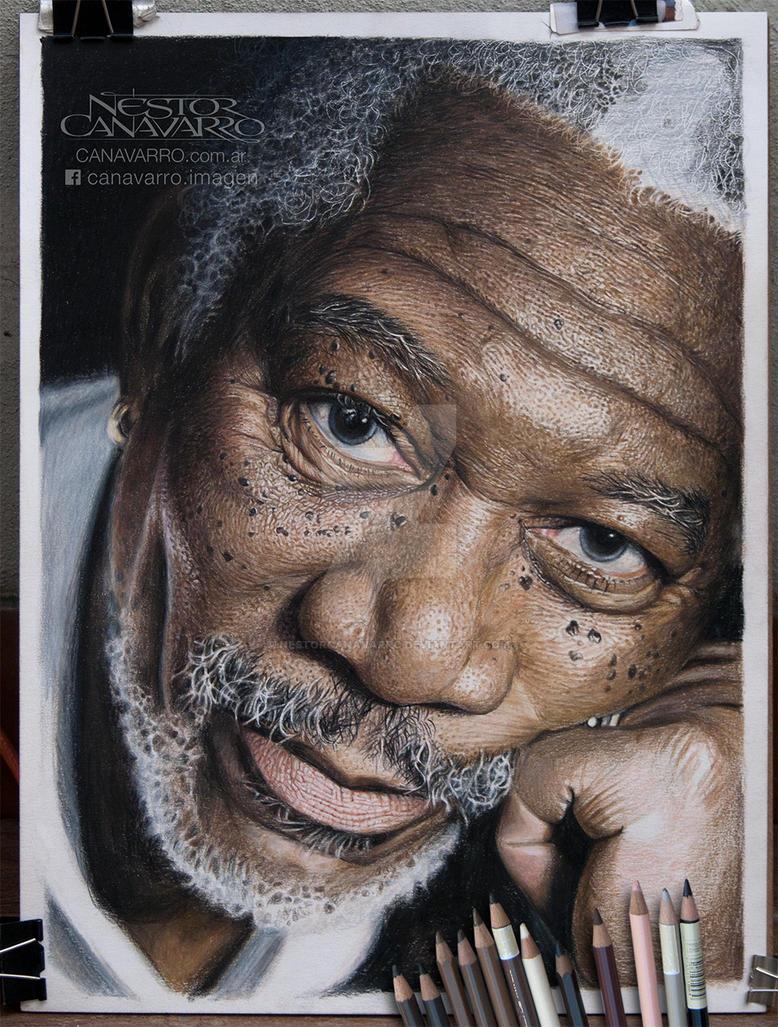 Morgan Freeman - WIP #6 by NestorCanavarro