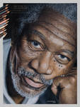 Morgan Freeman - Color Pencils on Paper