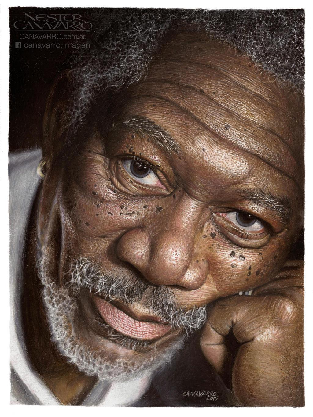 Morgan Freeman By Nestorcanavarro On Deviantart