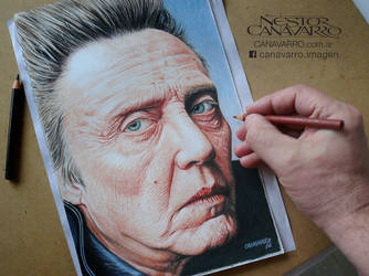 Christopher Walken - Color pencils by NestorCanavarro