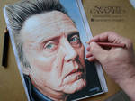 Christopher Walken - Color pencils