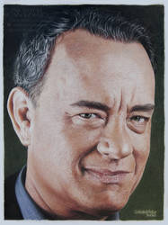 Tom Hanks - Colored pencils