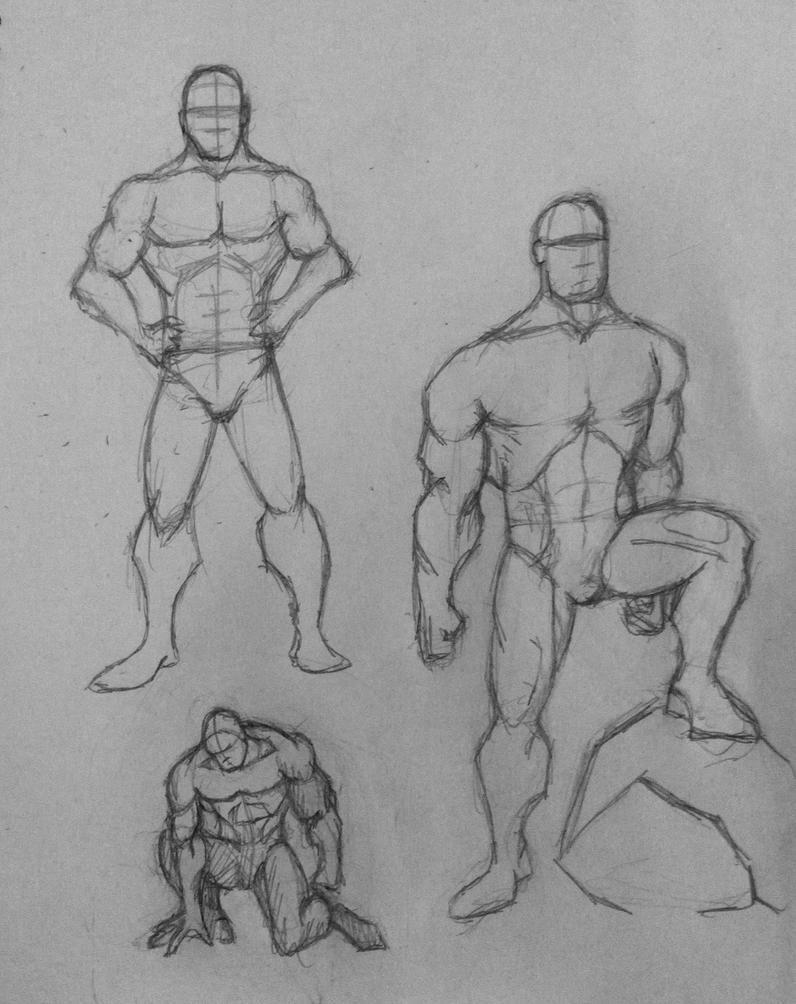Figure drawing sketch practice 2 by ThomasScantenii on DeviantArt