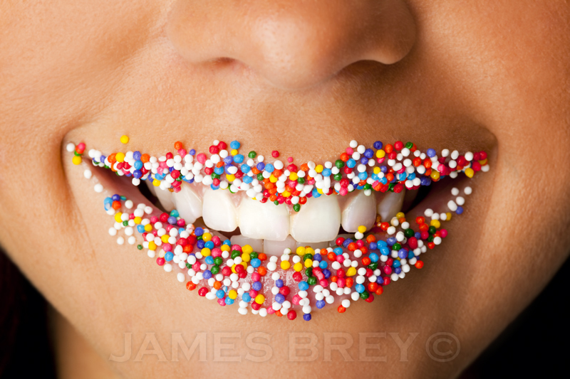 Lips With Sprinkles by JamesBrey