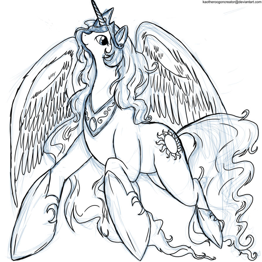 My Little Pony Friendship Is Magic Coloring Pages Princess