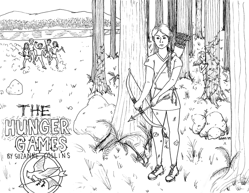 hunger games coloring pages printable - photo#13