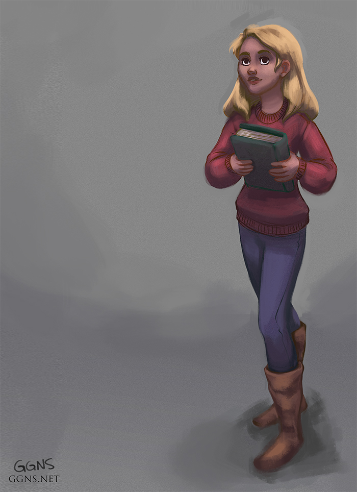 girl with book by ggns