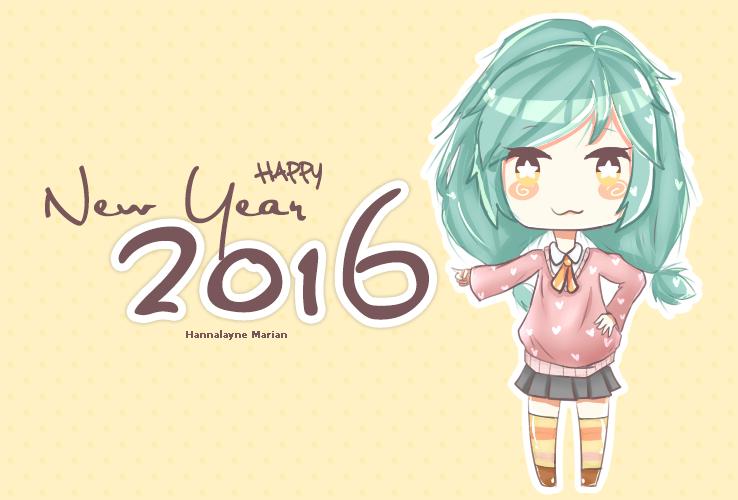Happy New Yeaarr~!! 2016 by HannalayneMarian