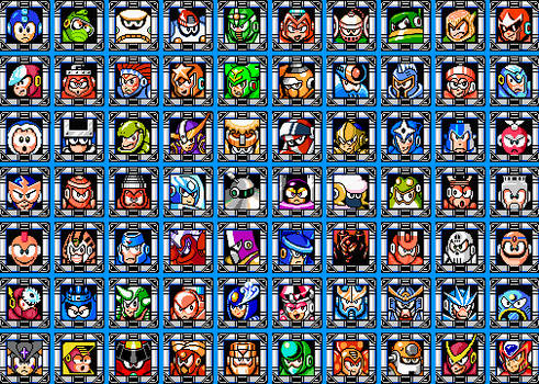 Robot Masters Collage