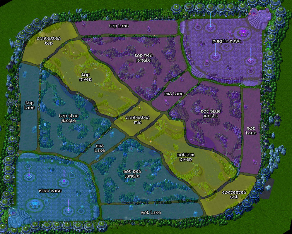 League of Legends - Summoner\'s Rift Regions Map by Narishm on DeviantArt