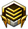 Starcraft II High Level Gold Logo by Narishm