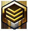 Starcraft II Middle Level Gold Logo by Narishm