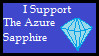 The Azure Sapphire - Support Stamp by Cymix-Productions