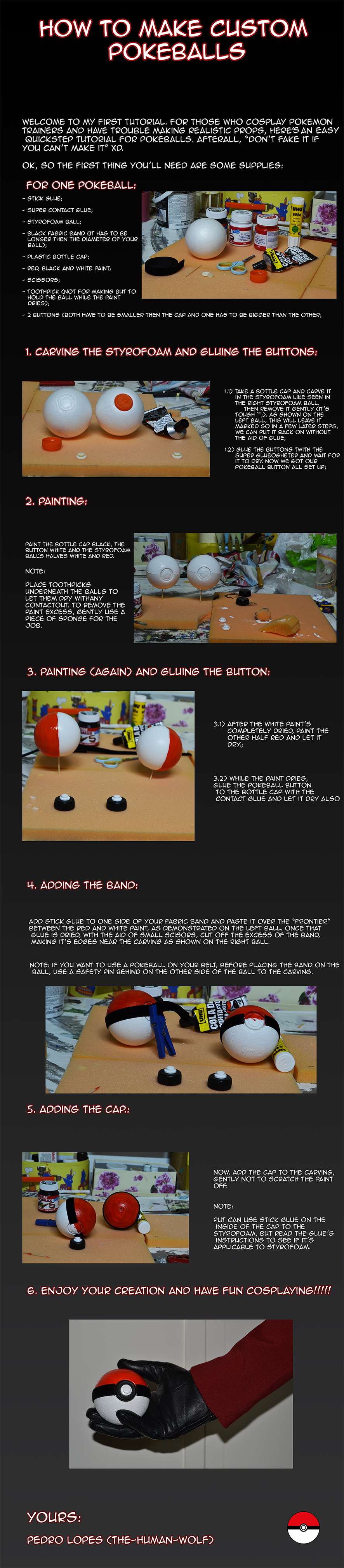 Cosplay tutorial: Pokeball by The-human-wolf